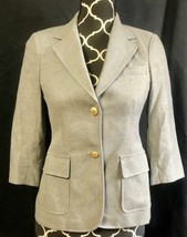 Band of Outsiders Gray Blazer Structured Notch Lapel 3/4 Sleeves sz 2 - $116.88