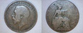 1921 Half Penny World Coin - Great Britain - UK - England - $3.99