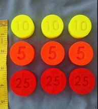 LOT 9 Replacement Coins compatible Fisher Price Cash Register 2044 & 926... - $12.45