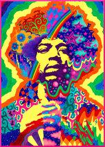 Jimi Hendrix Color Poster  2.5 x 3.5 Fridge Magnet - $3.99