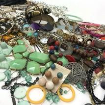 Vtg to Mod Costume Jewelry Lot Boho Metal Wood Retro Statement 3+ Lbs  - $44.50