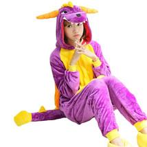 Kawaii Clothing Animal Pajamas Stitch Panda Costume Spyro Harajuku Japan Hooded - $36.95