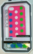 INCIPIO DOTTIES CUSTOMIZABLE PINK SILICONE iPOD TOUCH 5G 5th GEN CASE NEW - $5.47