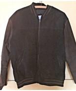 Men's Vintage Varsity/Baseball  Brown/Black Suede Jacket (M) - $23.38