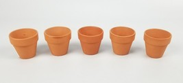 "(Lot of 5) Pennington Mini Flower Pots 2"" Terra Cotta Red Earth 2 Inch New - ₨735.63 INR"