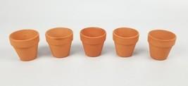 "(Lot of 5) Pennington Mini Flower Pots 2"" Terra Cotta Red Earth 2 Inch New - $13.16 CAD"