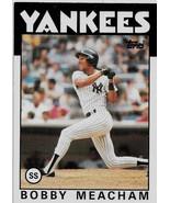 1986 Topps Baseball Card, #379, Bobby Meacham, New York Yankees - $0.99