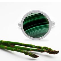 Handmade 925 Sterling Silver 18 MM Natural Green Malachite LOVELY GEMSTO... - $20.65