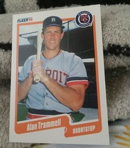 1990 Fleer #617 Alan Trammell Detroit Tigers Baseball Card - $1.80