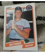 1990 Fleer #617 Alan Trammell Detroit Tigers Baseball Card - $1.80