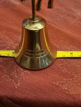 Vintage Solid Brass Unicorn Bell image 5