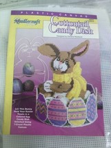Needlecraft Shop Cottontail Candy Dish Bunny Rabbit Easter Plastic Canva... - $31.67