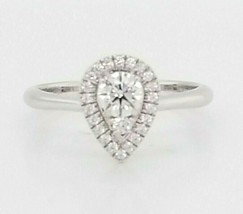 Hearts on Fire Diamond Engagement Ring 18K White Gold  $3,350 Retail, Si... - $2,029.50