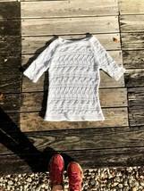 White Knit Talbots Sweater - Size Small - $17.00