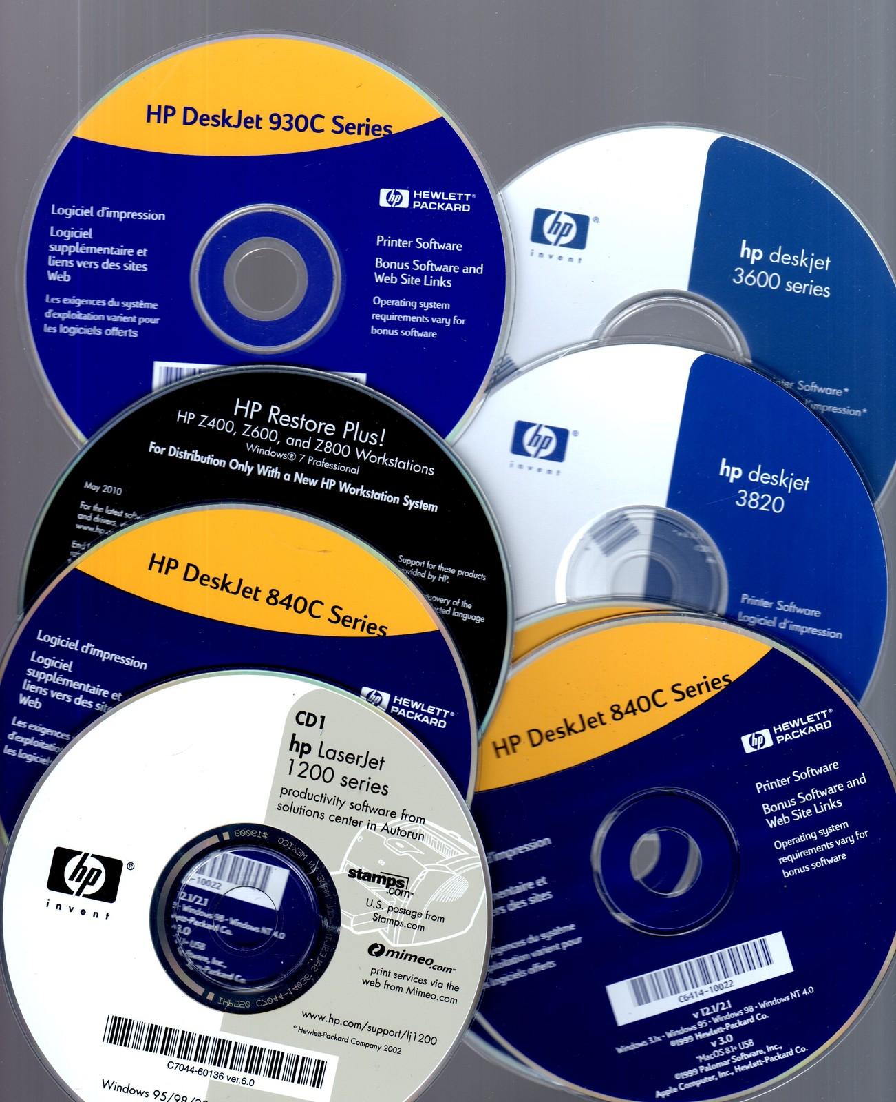 Hewlett Packard (HP) Printer Software - 7 Discs