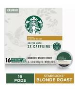 Starbucks Plus 2x Caffeine Blonde Roast Keurig Coffee 16 K-Cup - $19.62