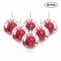 "Uten 20Pcs DIY Ornament Balls Christmas Decorations Tree Ball 3.15""/80mm... - $17.46"