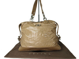 Authentic CELINE Browns Leather Shoulder Bag CS9543L - $169.00