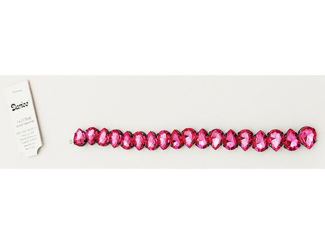 Darice Hot Pink Oval Beads, 7 Inches #1999-2631