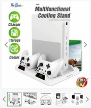 Battery Charging Dock Vertical Stand Cooling Fan Controller Charger XBOX... - $59.59 CAD