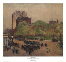 Childe Hassam-In the Heart of the City (1890)-Poster - $32.73