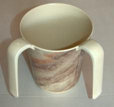 Netilat Yadayim Natla Hand Washing Cup Mock Marble Gray Brown Plastic Judaica image 4
