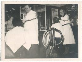 Original 1940s SNAPSHOT barber shop - $9.46