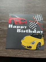 American Greetings~ Small Blank Birthday Card~Racing~With Envelope~New~S... - $0.98