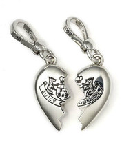 Juicy Couture Charm BFF Broken Heart Silvertone NEW - $67.32