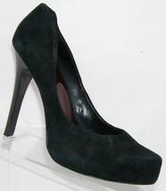 Jessica Simpson 'Parigi' black suede pointed toe platform heel 8.5B - $27.35