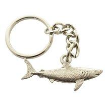 Great White Shark Keychain ~ Antiqued Pewter ~ Keychain - $9.99