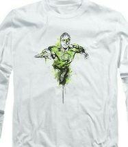 Green Lantern Color Splash DC Comics Retro long sleeve adult graphic tee GL312 image 3