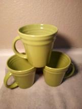 (3)  RACHAEL RAY  COFFEE MUGS / CUPS  DOUBLE RIDGE  GREEN  -FREE SHIP--VGC - $28.07