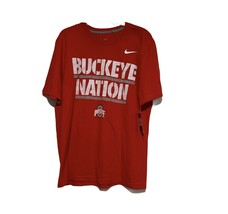 Men's Nike Ohio State Buckeye Nation Tee in Red Sz L NWT - $29.67