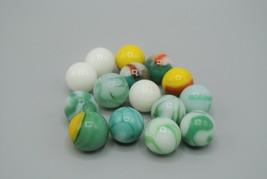 Akro Agate Marble Lot of 15 Helmets Moonies Approx. .5-Inch Diameter Near Mint - $10.69
