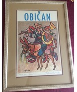 OBICAN SIGNED ARTIST PROOF special numbered 1000 LIMITED EDITION LITHOGR... - $233.40