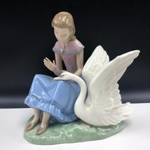NAO LLADRO SPAIN PORCELAIN figurine statue sculpture daisa 222 my swan g... - $445.50
