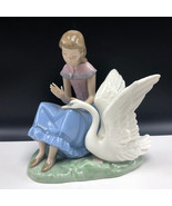 NAO LLADRO SPAIN PORCELAIN figurine statue sculpture daisa 222 my swan g... - $445.50