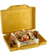 WWE MATTEL EMC PORTABLE MINI RING PLAYSET WITH 5 MIGHTY MINI FIGURES - $22.43