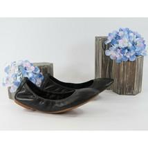 Tory Burch Eddie Black Nappa Leather Ballet Flats Sz 6.5 NIB - $162.86
