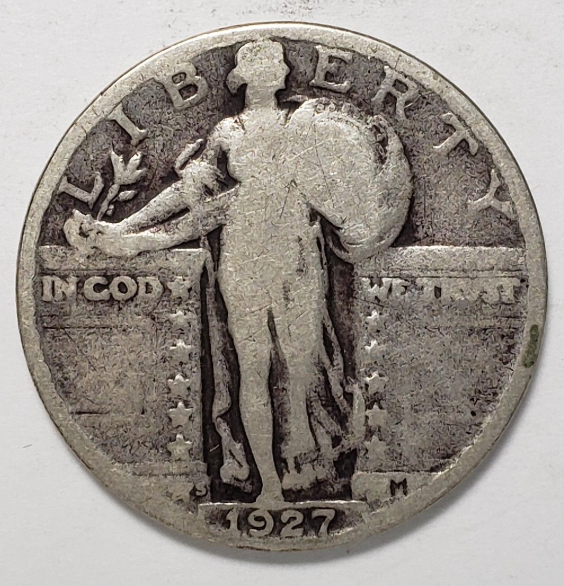 1927S STANDING LIBERTY QUARTER COIN Lot # 818-42