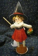 Vintage Inspired Spun Cotton, Halloween Witch image 2
