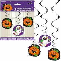 "Happy Halloween Ghost Pumpkin 26"" Hanging Swirl Cutouts 3 Pc - $2.99"
