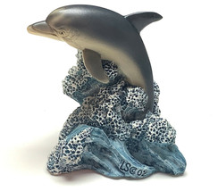 """Dolphin Figurine Living Stone 3"""" Resin Statue New Collectible  - $13.50"""
