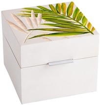 Container CYAN DESIGN OPHELIA Gold Leaf White Wood Iron New - $89.00