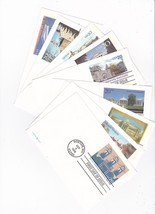 University First Day Of Issue Postcards Lot Of 9 Different Cards - $6.78