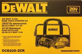 DeWalt - DCB205-2CK - 2 x 5.0Ah 20-Volt MAX XR Lith-Ion Battery, Charger and Bag - $197.95