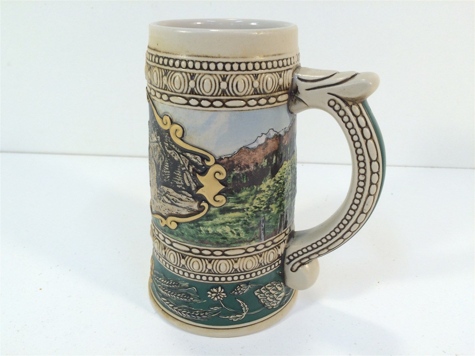 """Vintage Coors 1935 Print Advertisement Beer Stein Mug 7"""" 1990 Edition 135906"""