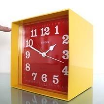 BLESSING Alarm Clock RARE DEALERS DISPLAY Vintage Mantel Wall XXL YELLOW... - $795.00