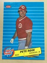 1986 Fleer Hall of Famer Insert Pete Rose #1 Cincinnati Reds - $2.23